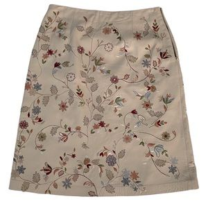 Genuine Leather Embroidered Skit Floral